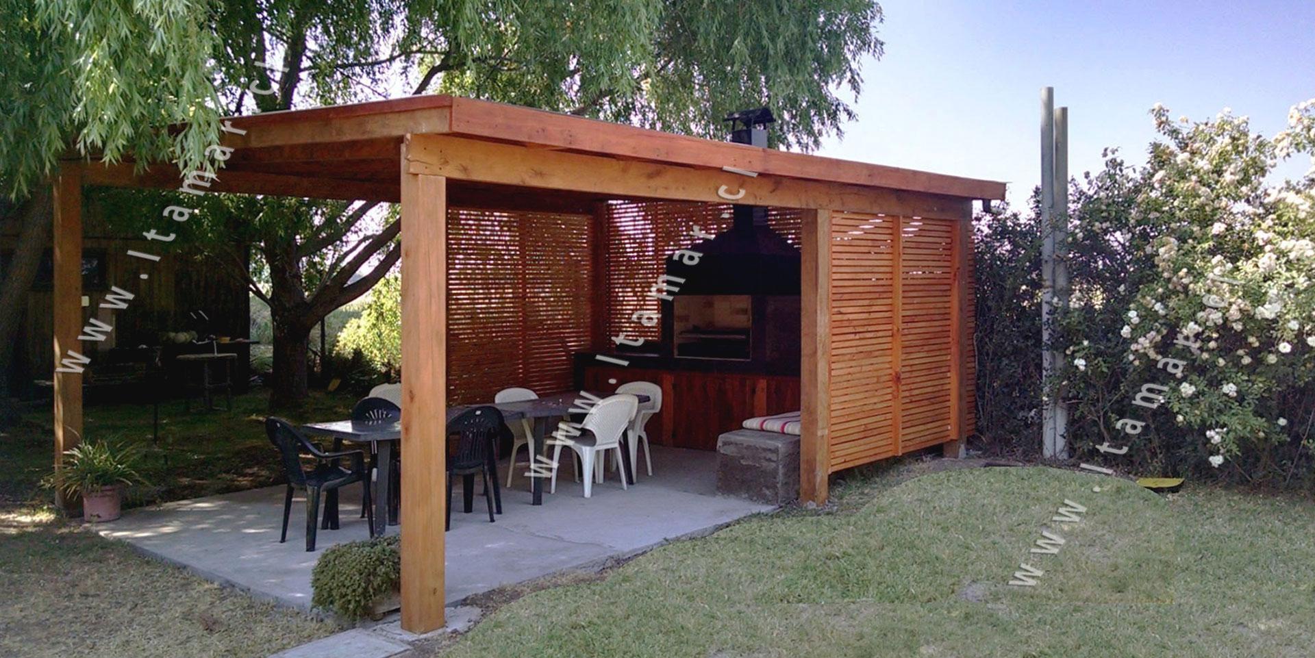 Pergolas de madera quinchos itamar terrazas de madera - Construccion de pergolas de madera ...