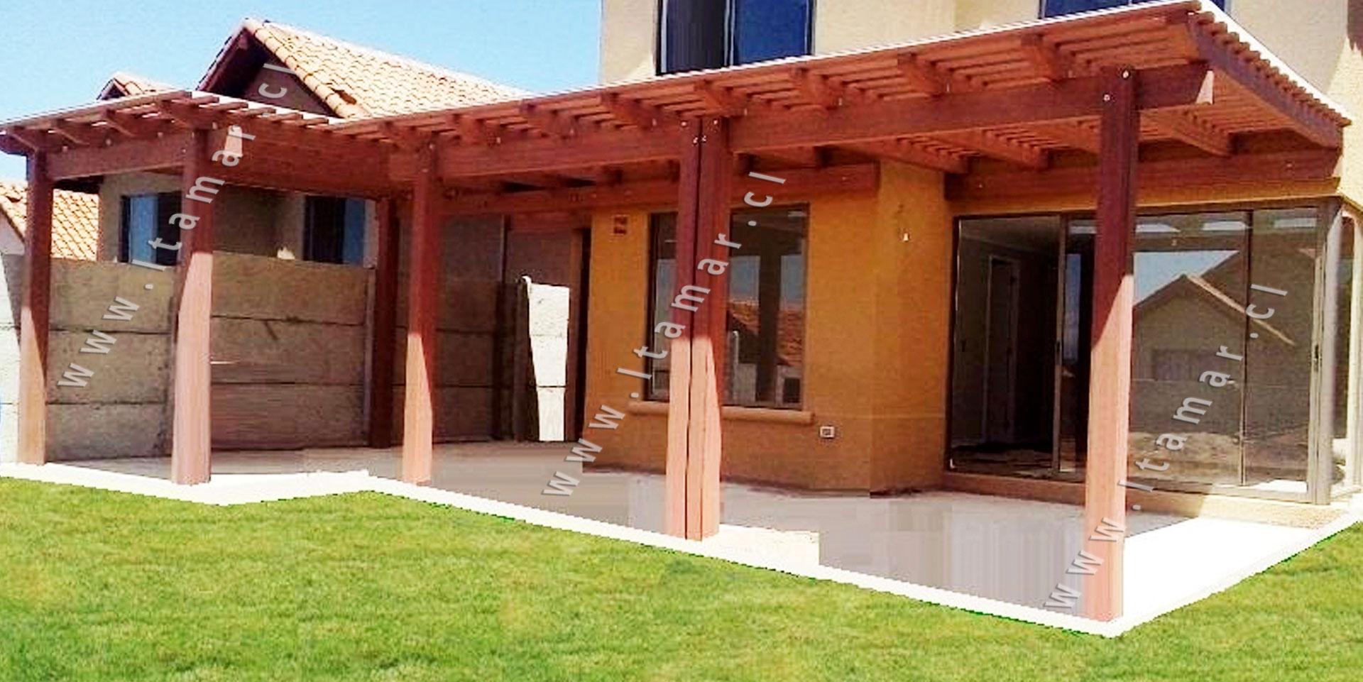Prefabricados corbertizos y pergolas de wpc itamar for Cobertizos de madera prefabricados